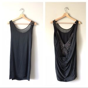 Foley + Corinna Cowl Back Butterfly Dress & S